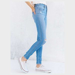 Nobody cult high rise skinny leg distressed jeans